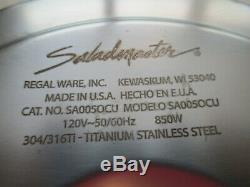 Saladmaster 304/316Ti Titanium Stainless Steel MP5 Electric Skillet Pan Pot