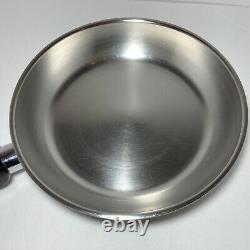 Saladmaster 316Ti Titanium Stainless 10 Skillet Gourmet Chef's Pan Sauté Fry