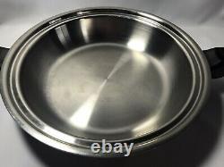 Saladmaster 316Ti Titanium Stainless 10 Skillet Saute Fry Saucepan Chef's Pan