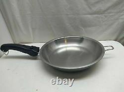 Saladmaster 316Ti Titanium Stainless 11 Skillet Saute Fry Saucepan Chef's Pan