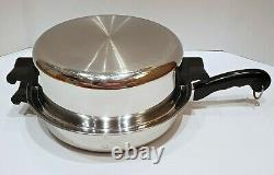 Saladmaster 5 STAR TP304S Stainless Steel 11.5 Skillet Fry Pan with Dome Lid