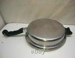 Saladmaster 5 Star TP304s Surgical Stainless 11 Skillet Saute Pan Roaster & Lid