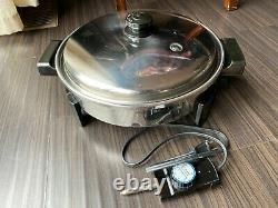 Saladmaster 7256 Stainless Steel 12 Electric Frying Pan with Original Cord