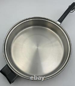 Saladmaster Family 11 Skillet Stir Fry Saute Sauce Pan Vapo Lid 20-2456