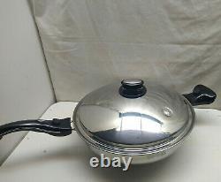 Saladmaster Limited Edition Gourmet 316Ti Titanium 5 Qt Paella Pan 12 Wok Lid
