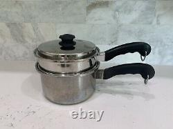 Saladmaster (Set of 9) Stainless Steel Pots & Pans + Lids