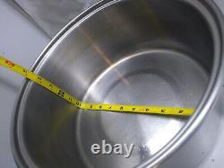 Saladmaster Stainless 6.5 Qt Stock Pot Saute Pan Dutch Oven Roaster Fryer & Lid