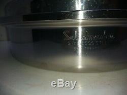 Saladmaster Stainless Steel 11 Skillet Saute Fry Pan Saucepan Casserole & Lid