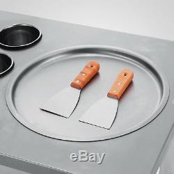 Single Pan Fried Ice Cream Machine Defrost Fry Roll Making 1 Pan 6 Buckets
