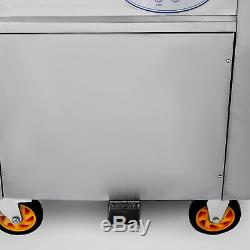 Smart Fried Ice Cream Machine Stir Yogurt Milk Rolling Maker 50cm Round Pan