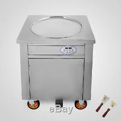 Smart Single Pan Fried Ice Cream Machine Commercial 1800w Ice Cream Roll Maker