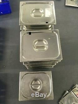 Stainless Steel Gastronorm Pans & Covers Various Sizes Food Catering Kitchen GN