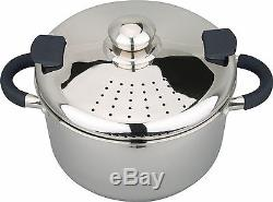 Stainless Steel Pasta Spaghetti Pot With Strainer Lid 22 cm Induction Pan 4,5L