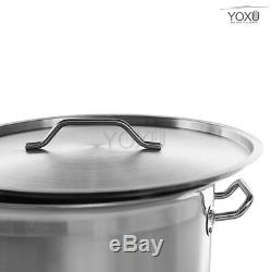 Stainless Steel Stock Pot Soup Stew Casserole Pot Cooking Brew Pan Inox Aisi 304