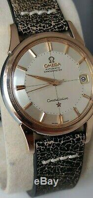 Stunning Omega Constellation Pie Pan Dial Rose Gold Automatic Date Vintage
