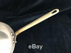 Super MAUVIEL Copper Fry Pan 8.5 / 21.5 cm Stainless Steel Lined Brass Handle