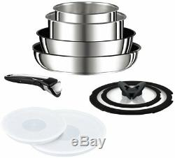 T-FAL Pan 9 pcs set detachable handle Ingenio Neo IH Stainless steel F/S EMS JP