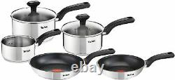 Tefal 5 Piece, Comfort Max, Stainless Steel, Pots and Pans, Induction Set