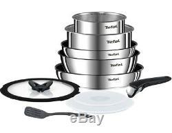 Tefal Ingenio 10 Piece Emotion Stainless Steel Induction Pan Set