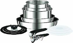 Tefal Ingenio Stainless Steel 13-Piece Pots & Pans Set Induction Gas Electric