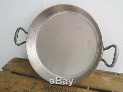 UNUSED Falk copper gratin pan 28cm round