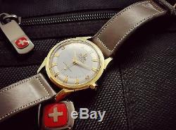 VINTAGE OMEGA CONSTELLATION PIE PAN CROSSHAIR 14k SOLID GOLD&STAINLESS STEEL