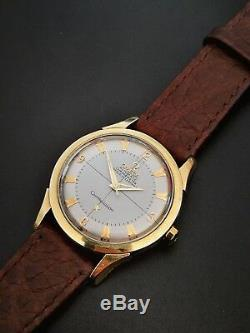 VINTAGE OMEGA CONSTELLATION PIE PAN CROSSHAIR 14k SOLID GOLD&STAINLESS STEEL