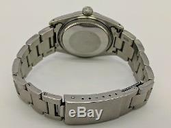 VINTAGE Rolex Datejust 1603 Pie Pan Silver Dial 36mm Oyster Perpetual