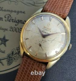 Vintage 1950's Omega Automatic Geneve Pie Pan 2981-4 Watch