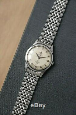 Vintage 1950's Omega Constellation 14381 C. 551 Pie-Pan Dial + Arrowhead Markers