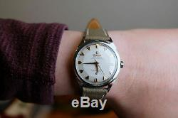 Vintage 1950's Omega Constellation Pie Pan Two Tone Ref 2852