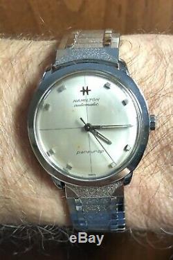 Vintage 1960s Hamilton Pan-Europ Cal 63 21J Automatic SS Watch Original Band Run