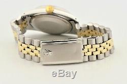 Vintage 1966 Men's Rolex Datejust Two Tone Silver Pie-pan Dial 1601 Watch