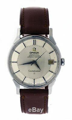 Vintage 1966 Omega Constellation 564 34mm Steel Pie Pan Automatic Watch