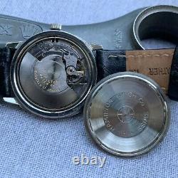 Vintage 60's Hamilton Pan-Europ 64017-3 Crosshair Dial Stainless Steel Watch
