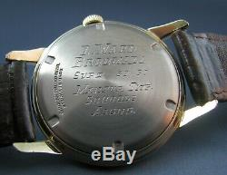 Vintage Longines Wittnauer 10K Gold GF Pie Pan Dial Mens Watch 17J 10ESB 1950s