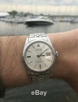 Vintage Mens Rolex 1603 Datejust Orig Pie Pan Dial Mens Watch Authentic
