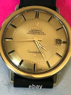 Vintage OMEGA Constellation Pie Pan dial, 36mm case, gold plated