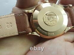 Vintage Omega Constellation Automatic Pan Pie 18k Gold Mens Gents Wrsit Watch