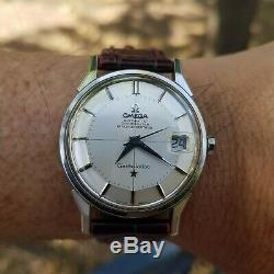 Vintage Omega Constellation Pie Pan Cross Hair Dial S. Steel Great Condition