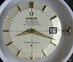 Vintage Omega Constellation Pie Pan Dial Hands Calibre 562 Running For Parts