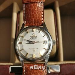 Vintage Omega Constellation Pie Pan Steel Cross Hairs Cal 561(1) Box & Papers