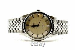 Vintage Omega Constellation Silver Pie Pan 551 Automatic Stainless Steel Watch