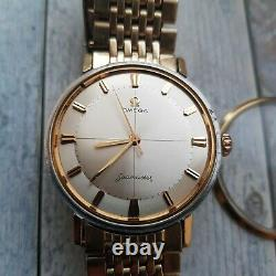 Vintage Omega Seamaster Men's Crosshair Pie-pan Dial Watch