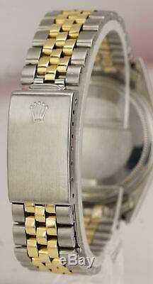 Vintage Rolex DateJust 36mm 1601 Pie Pan Two-Tone Gold Steel Jubilee Watch 16013