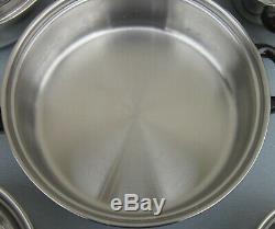 Vintage SEARS Stainless Steel 9 pc. COOKWARE SET Pots/Pans/Lids/Skillet/Stockpot