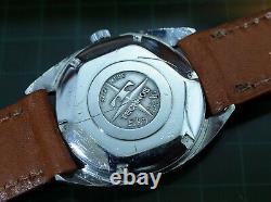 Vintage mens Technos automatic pie pan dial all original serviced rare
