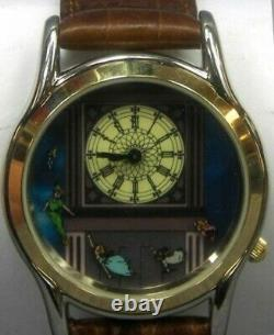 Walt Disney 45th Anniversary PETER PAN Wrist watch with Tinkerbell House Case Rare