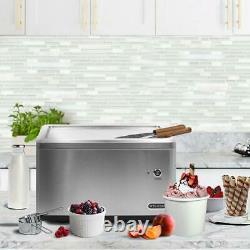 Whynter Instant Ice Cream Maker Stainless Steel Frozen Pan Roller Portable 8 Oz
