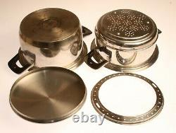 ZEPTER Stainless Steel STEAM BOILING PAN COOKER with THERMOMETER LID 231150